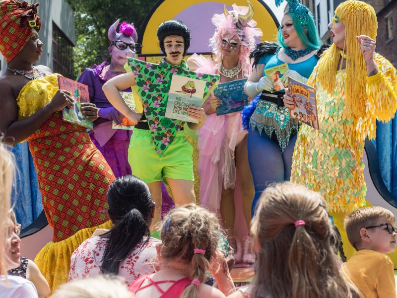 Pop-up interactive drag show for kids